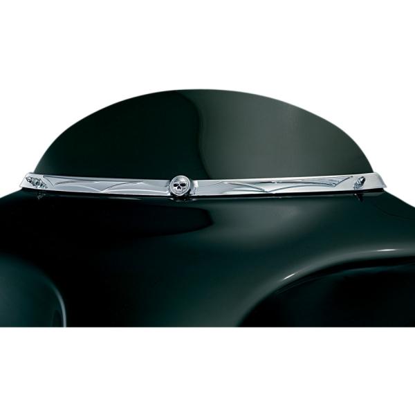 enjoliveur de baie de pare brise kuryakyn pour flht flhtc flhtcu flhx fl trike 96 11 custom. Black Bedroom Furniture Sets. Home Design Ideas